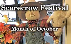 Don't miss the 4th Annual Scarecrow Festival